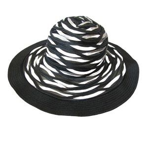 Nine West Black and White Sunhat